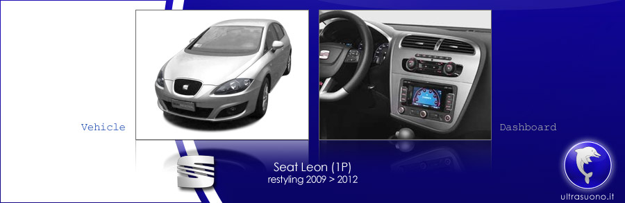 mascherina autoradio 2iso 2din seat leon 2 1p rest 2009. Black Bedroom Furniture Sets. Home Design Ideas