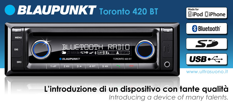 blaupunkt toronto 420 bt sinto cd mp3 bluetooth usb sd aux. Black Bedroom Furniture Sets. Home Design Ideas